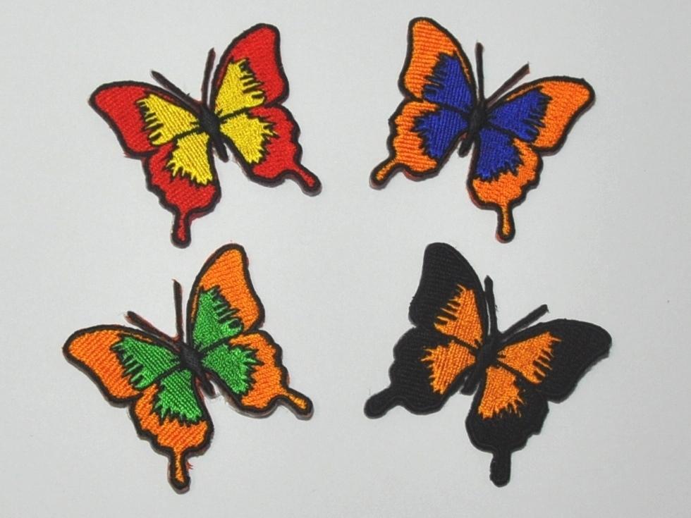 Aufnäher Motiv Schmetterling Zipfelfalter, Größe 5 x 4,5 cm ...